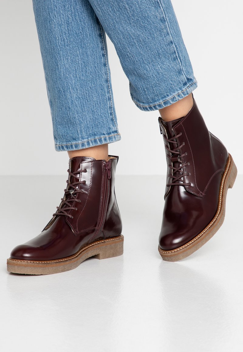 Kickers - OXIGENO - Lace-up ankle boots - bordeaux