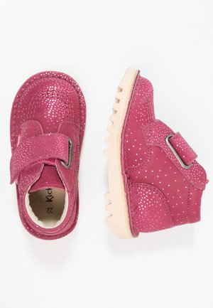 NEOKRAFTY - Touch-strap shoes - bordeaux metallic