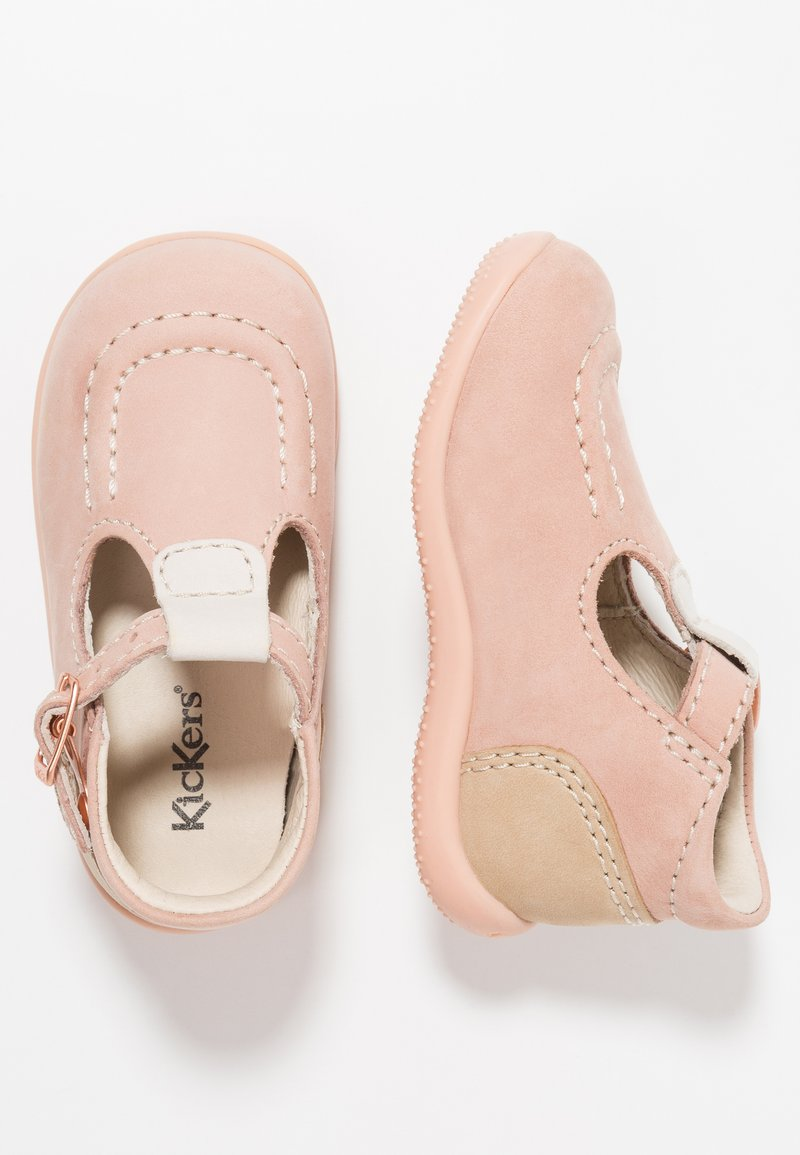 Kickers - BONBEK - Lær-at-gå-sko - pink
