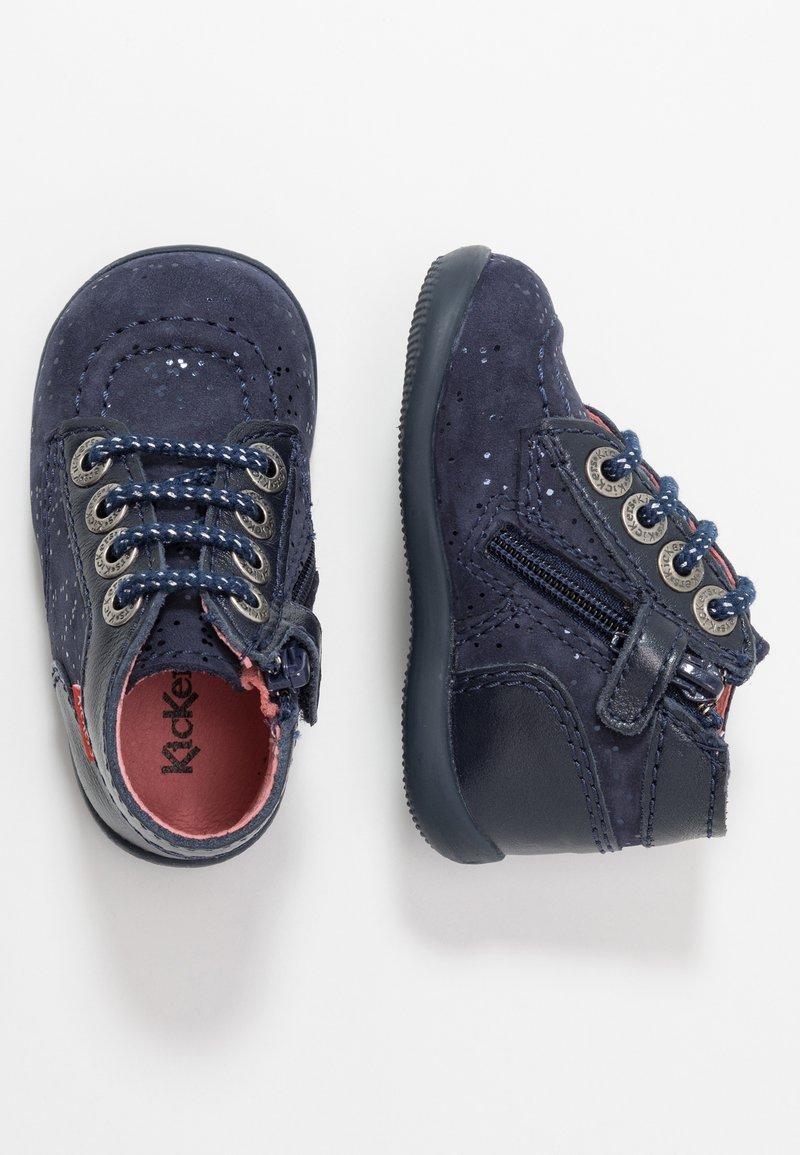 Kickers - BONZIP - Lær-at-gå-sko - navy metallic