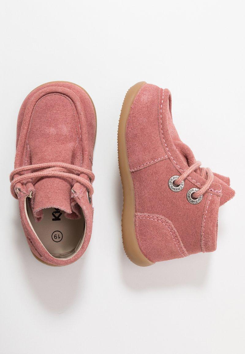 Kickers - BALABI - Lace-up ankle boots - rosé antique