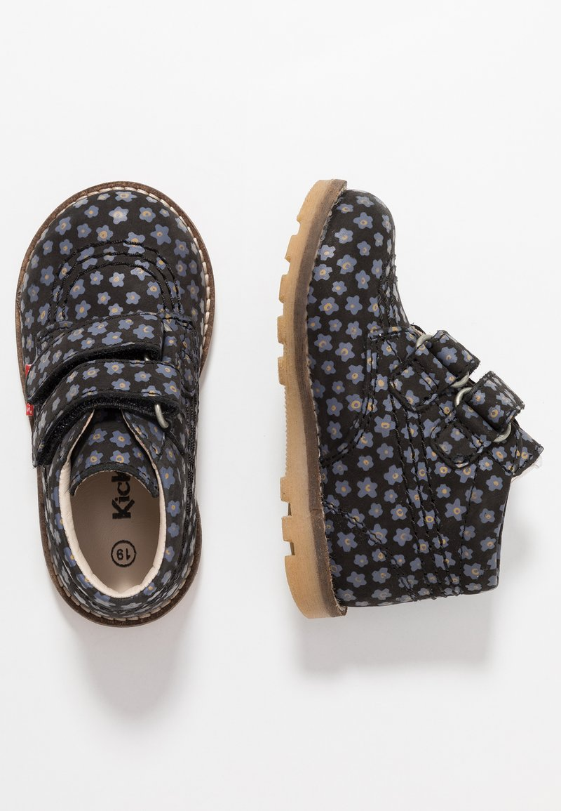 Kickers - NONOMATIC - Touch-strap shoes - black/grey