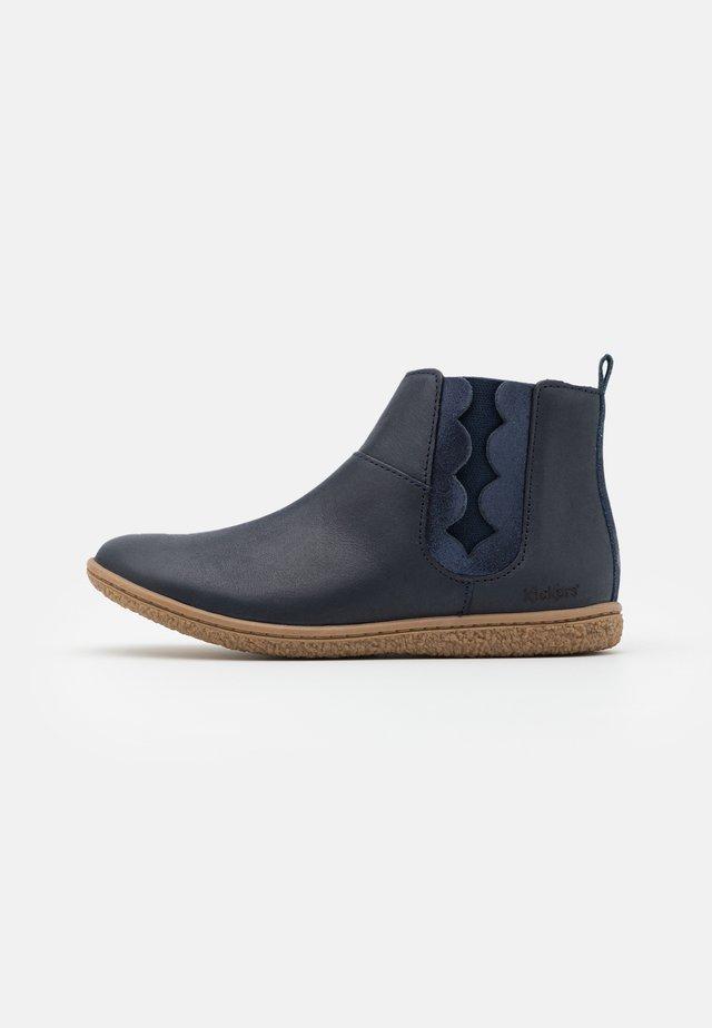 VETUDI - Classic ankle boots - marine/metallise