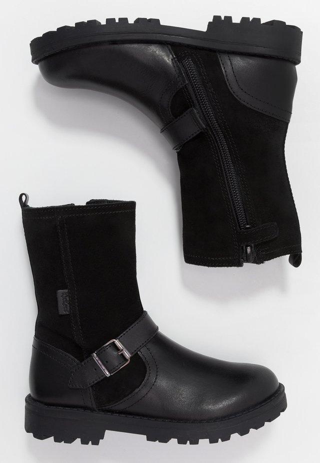 GRAMMI - Kovbojské/motorkářské boty - black