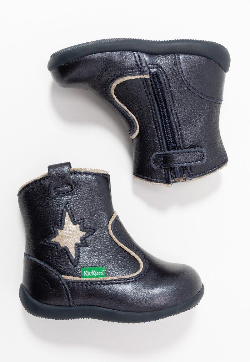 Kickers - BIBOOTS - Korte laarzen - navy metallic