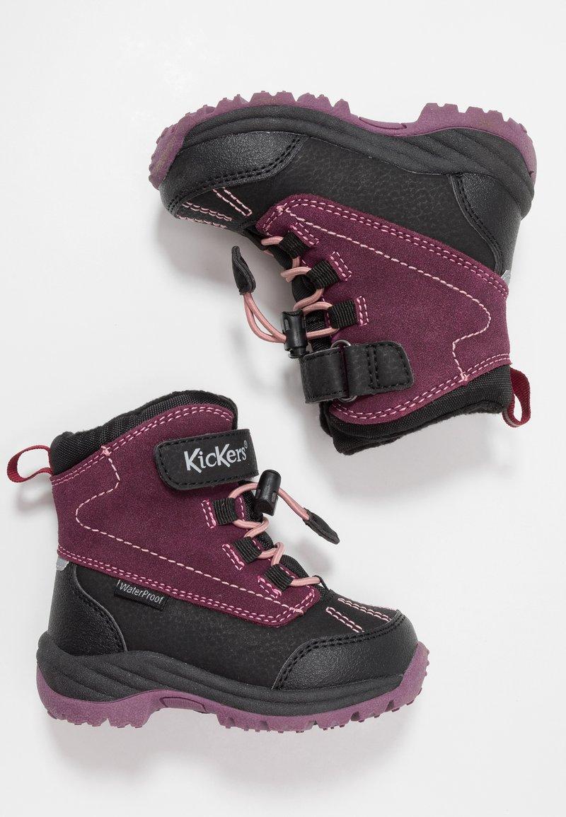 Kickers - JUMP WPF - Winter boots - black/purple