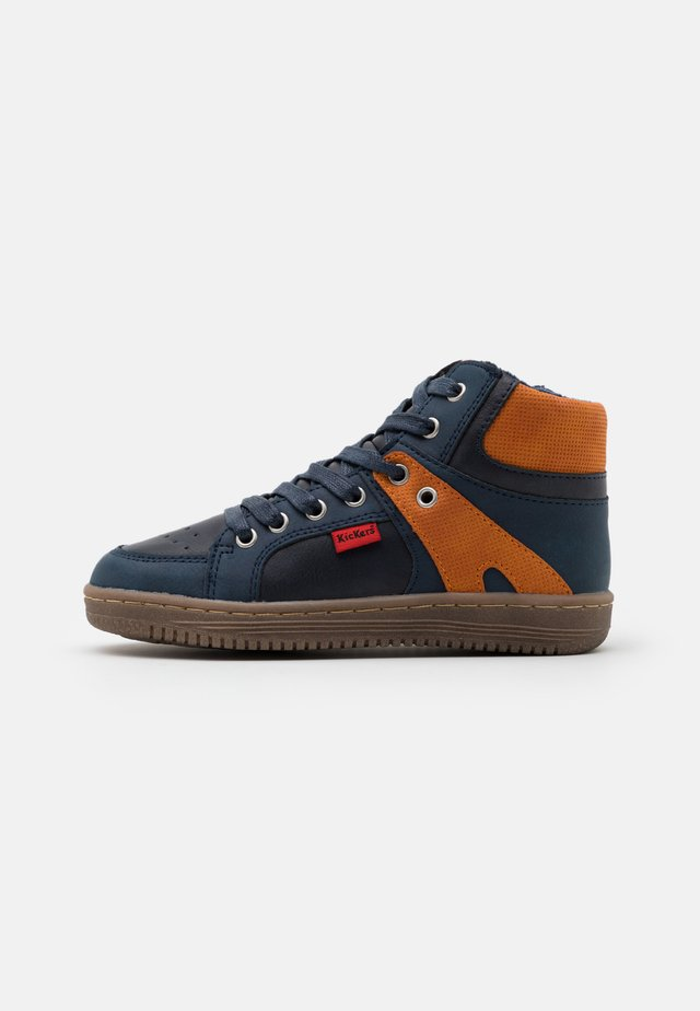 LOWELL - Sneakers hoog - marine/orange