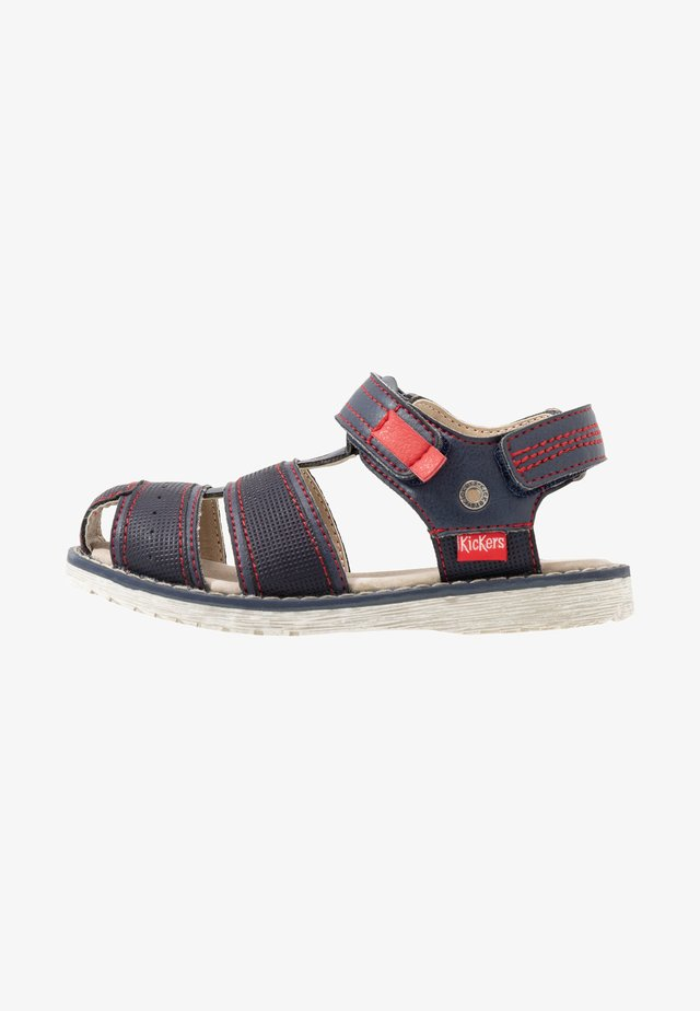 PEPSTER - Sandals - marine/rouge
