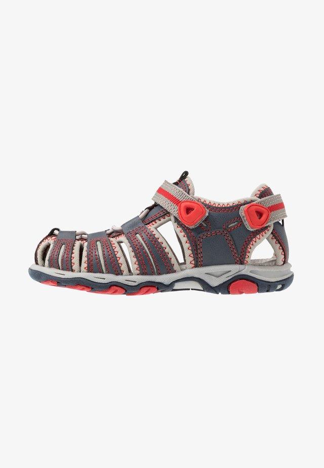 KAWA - Sandales de randonnée - marine/rouge