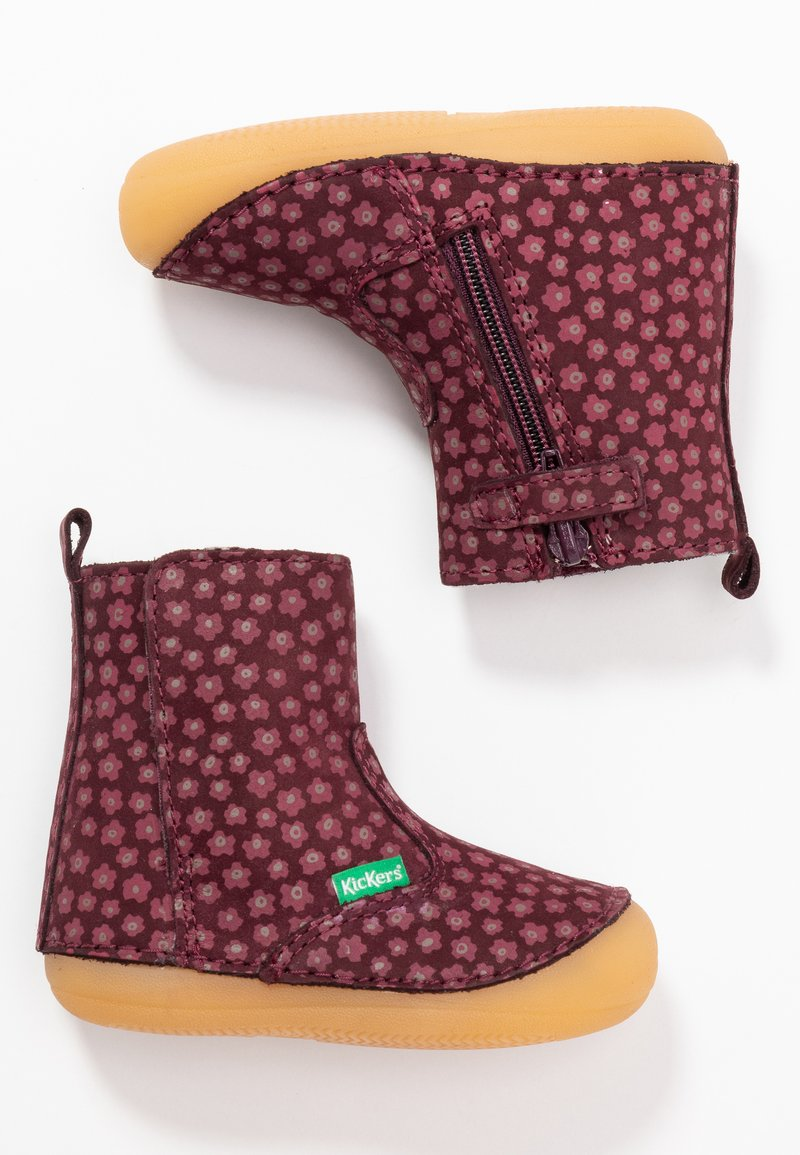 Kickers - SOCOOL CHO - Classic ankle boots - bordeaux/rose
