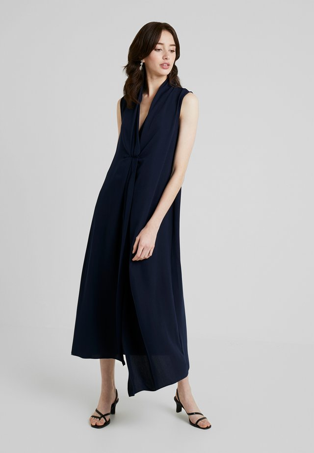 SMART V NECK COLUMN DRESS - Robe longue - dark blue