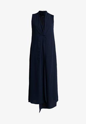 SMART V NECK COLUMN DRESS - Maxikleid - dark blue