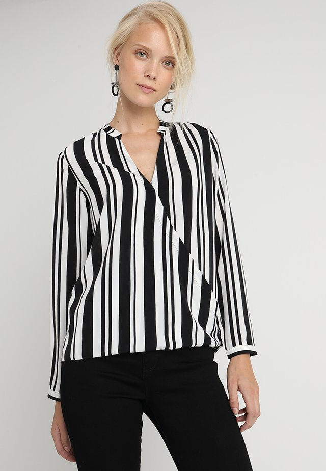 Blouse -  off-white/black