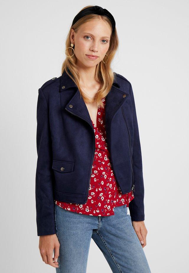 Faux leather jacket - dark blue