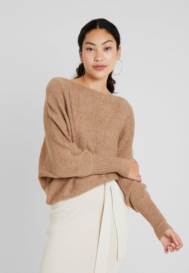 Stickad tröja - mottled beige