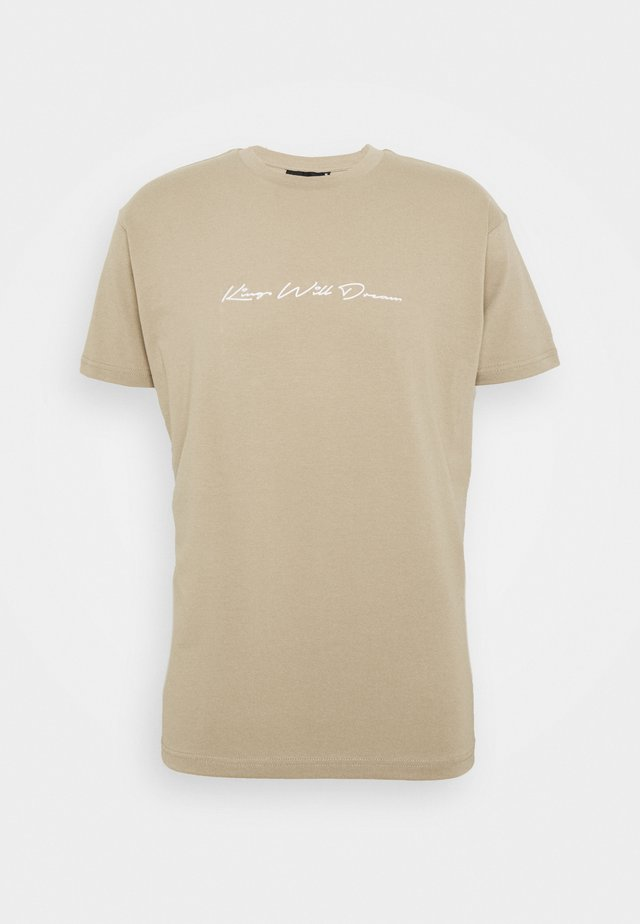 UNISEX ASHLEY TEE - T-shirt med print - stone