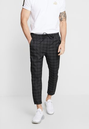 Trousers - black/white
