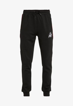 DEFLOUR JOGGERS WITH TAPING - Tracksuit bottoms - black