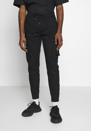 BROCKON PANTS - Kapsáče - black