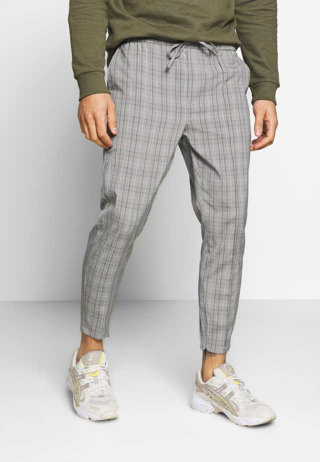 VINCENT SMART JOGGERS IN PRINCE OF WALES - Broek - charcoal