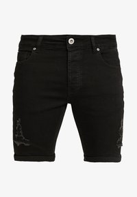 Kings Will Dream - NOTRE DISTRESSED - Shorts di jeans - black - 4