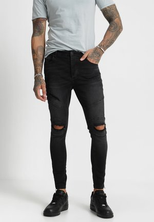 HIPSTER BANO - Jeansy Skinny Fit - black