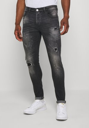 LIMER CARROT - Jean slim - grey/black