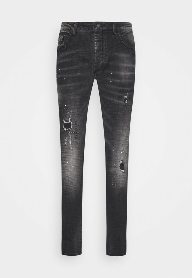 GINI CAROT FIT - Jeans Skinny Fit - grey/black