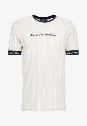 T-shirt imprimé - sand /white