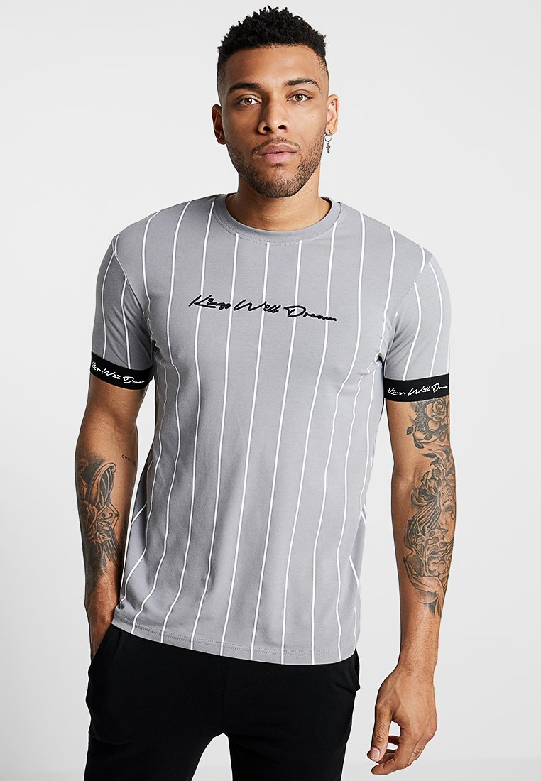 Kings Will Dream - CLIFTON - T-shirts med print - grey/white