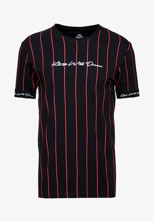 T-shirt z nadrukiem - black/red