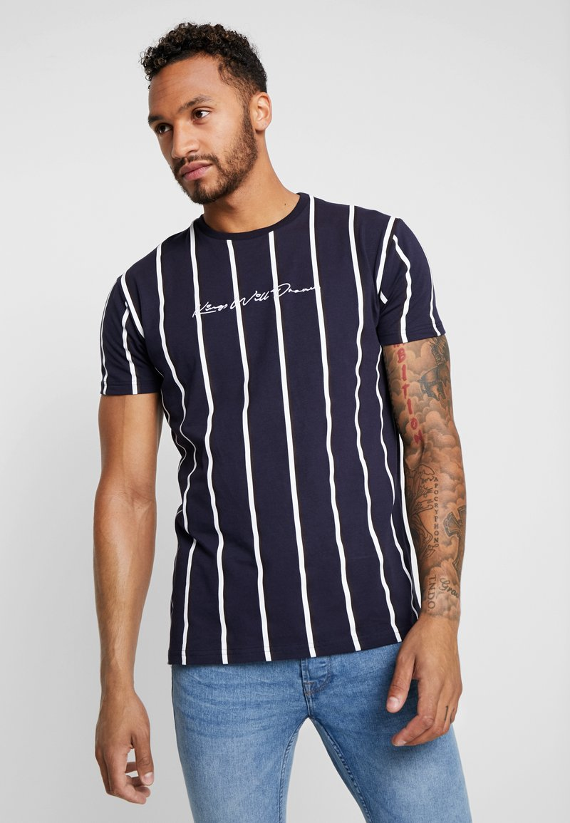 Kings Will Dream - MOFFAT TEE - T-Shirt print - navy/white