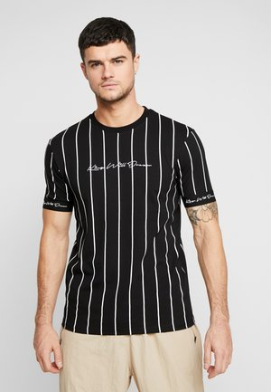 CLIFTON VERTICAL STRIPE BLACK - T-shirt con stampa - black
