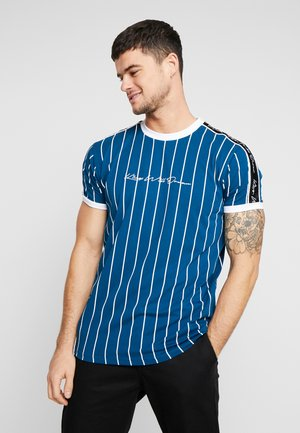 RIFTON WITH VERTICAL STRIPE - T-shirt con stampa - teal