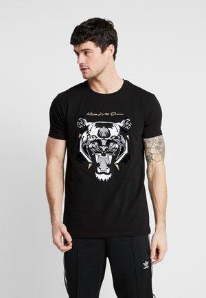 DEMON - T-shirt con stampa - black