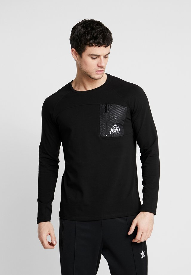 ALDON LONG SLEEVE - Langærmede T-shirts - black