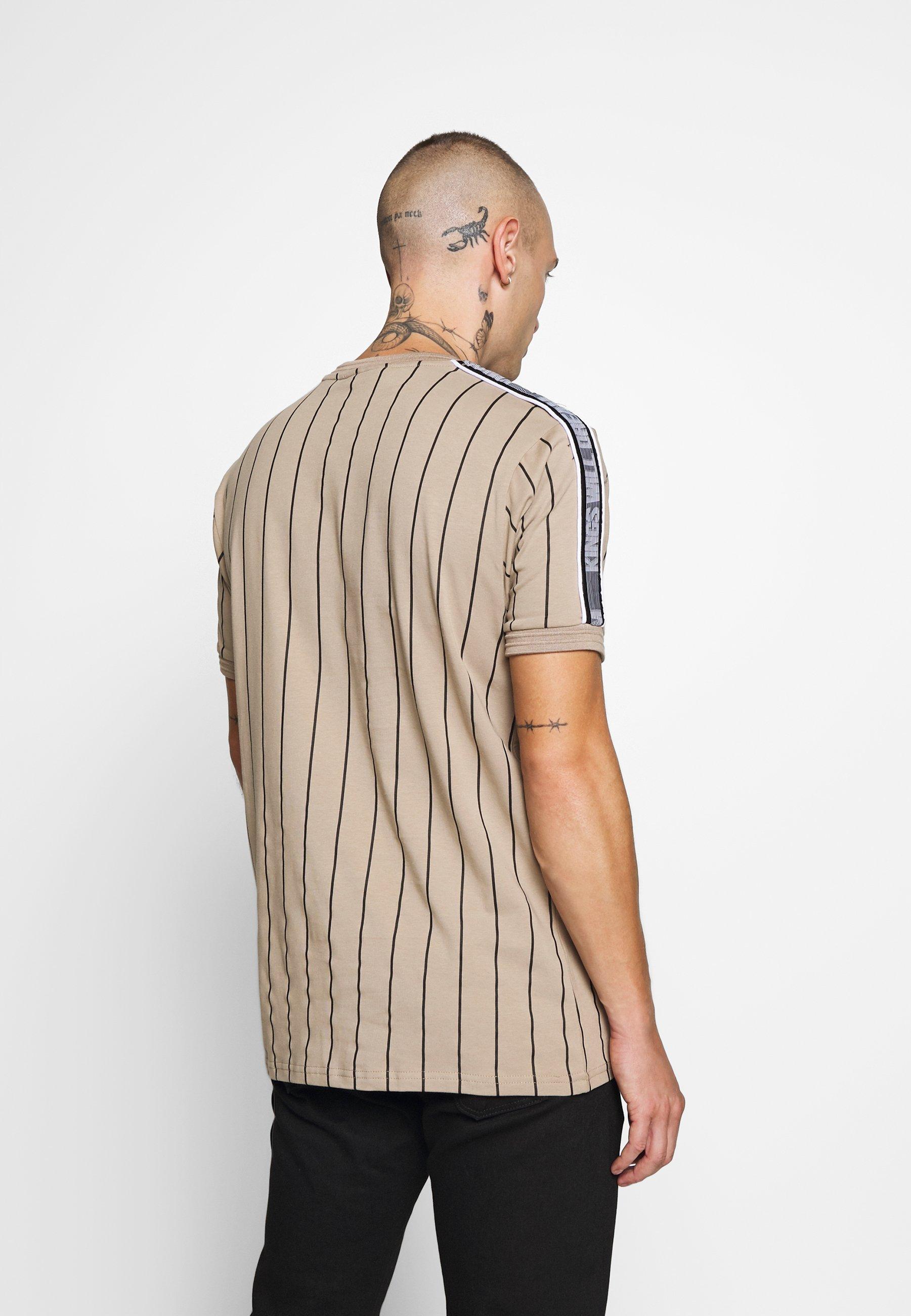 Kings Will Dream KENSON VERTICAL STRIPE - T-shirt imprimé - dark sand