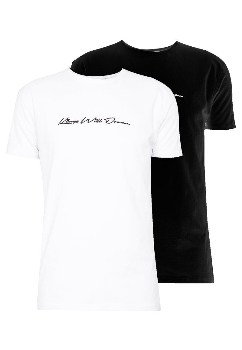 Kings Will Dream - 2 PACK - T-shirt med print - black/white