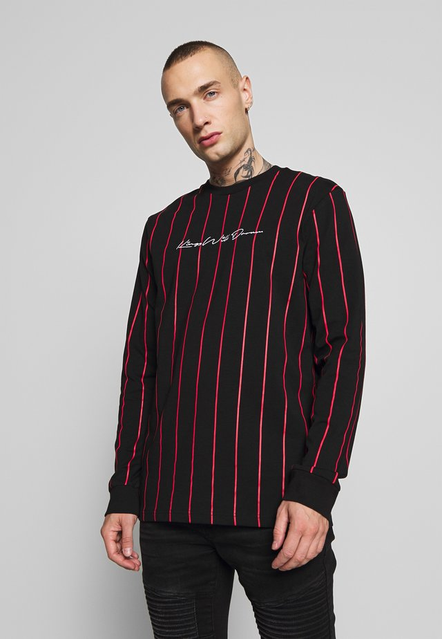 CLIFTON VERTICAL STRIPE LONG SLEEVE TOP - Langærmede T-shirts - black