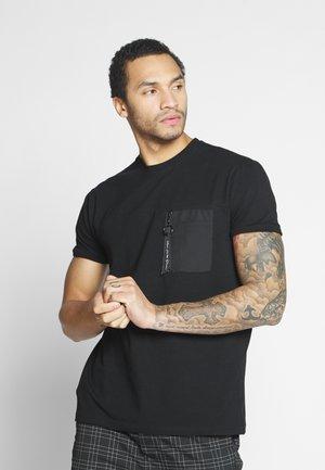 BRENT - T-shirt basic - black