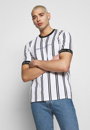 CLERTON VERTICAL STRIPE - Print T-shirt - white/black