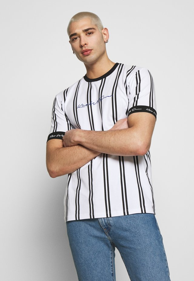 CLERTON VERTICAL STRIPE - T-shirts print - white/black
