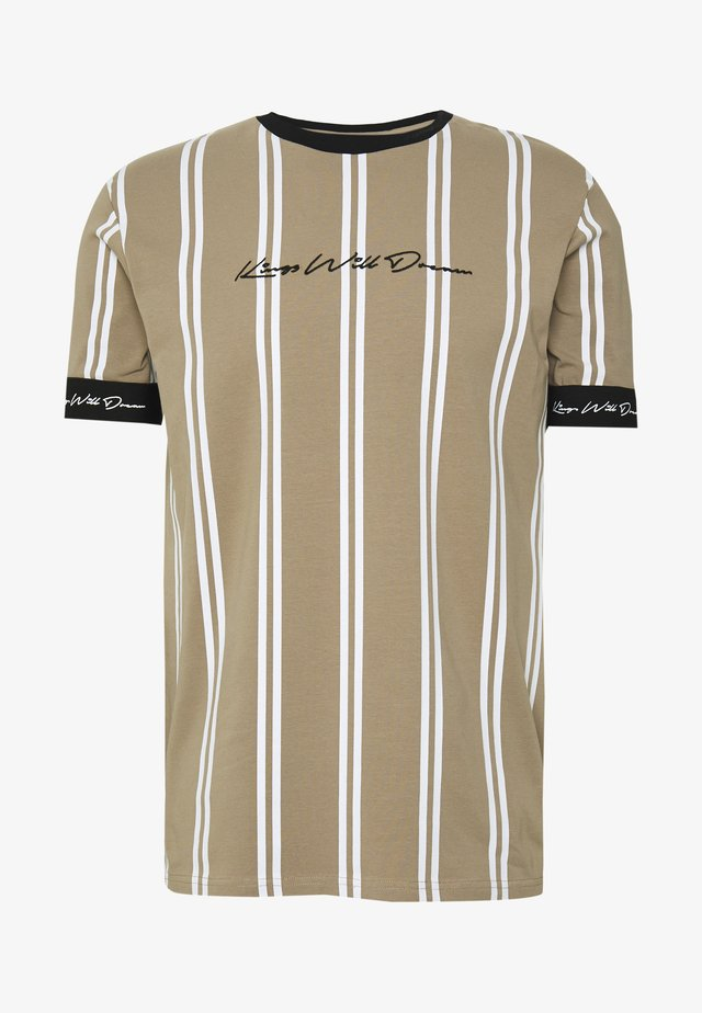 CLERTON VERTICAL STRIPE - T-shirts print - sand/white