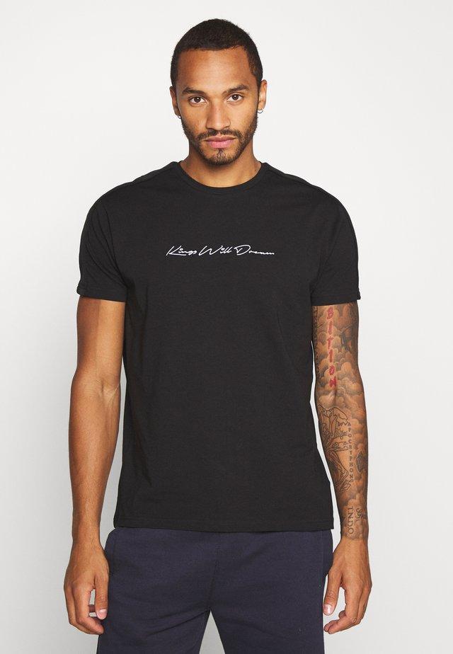 MLORTON - T-shirt med print - black