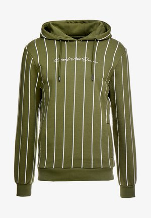 CLIFTON HOODIE WITH VERTICAL STRIPE - Mikina skapucí - khaki