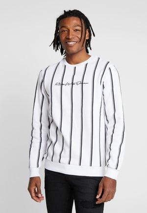 VERTICAL STRIPE - Sweatshirt - white