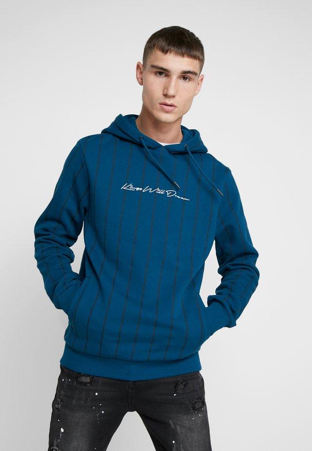 CLIFTON VERTICAL STRIPE HOODIE - Hoodie - sailor blue