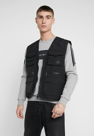 KINGS WILL DREAM MILVIEW UTILITY VEST  - Vesta - black