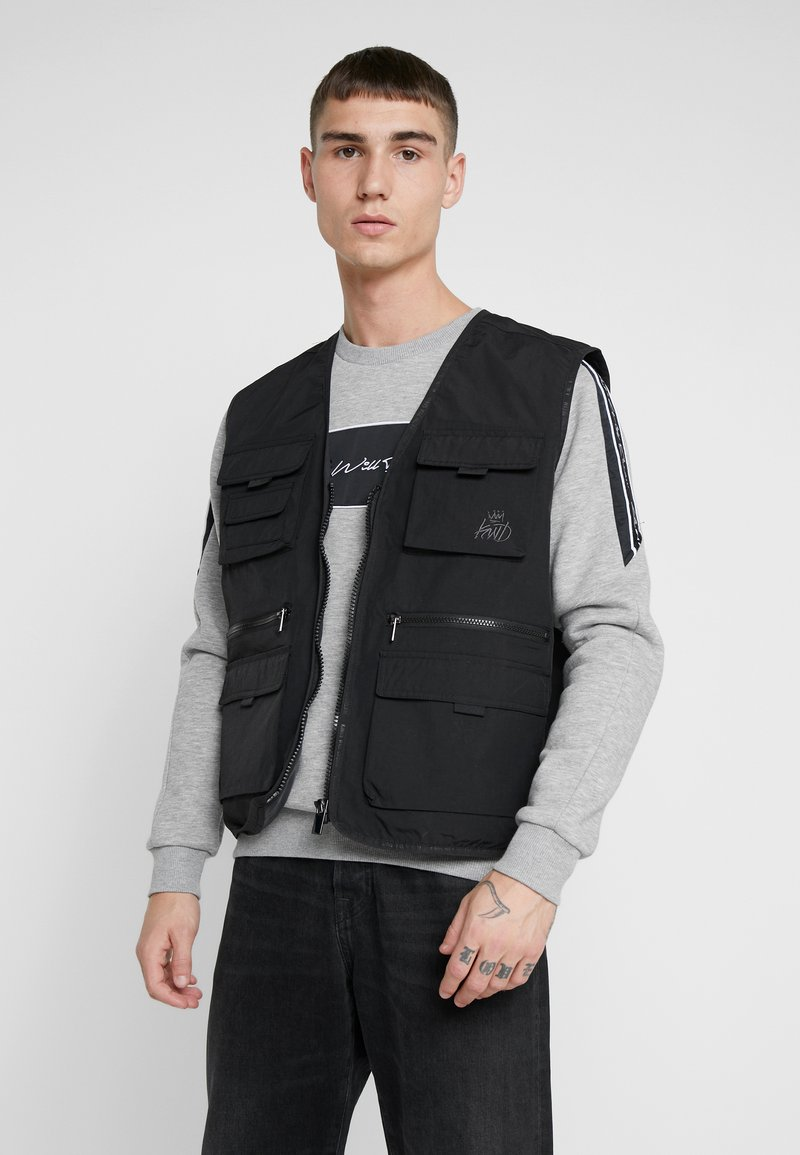 Kings Will Dream - KINGS WILL DREAM MILVIEW UTILITY VEST  - Waistcoat - black
