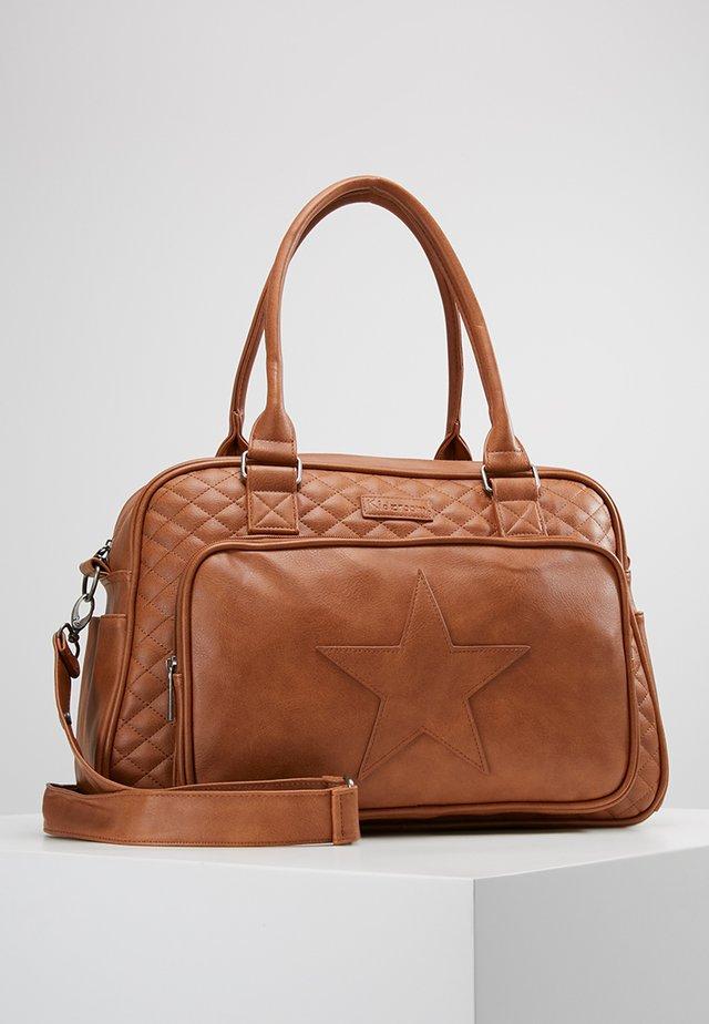 STARS DIAPERBAG - Baby changing bag - cognac